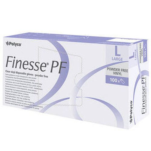 Polyco Finesse Powder-Free Clear Vinyl Disposable Gloves