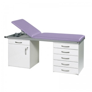 Sunflower Medical Lilac Two-Section Specialist Treatment Couch with Cupboard and Six Drawers