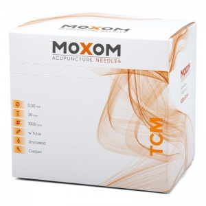 MOXOM TCM Uncoated Acupuncture Needles (Bulk Pack of 1000)