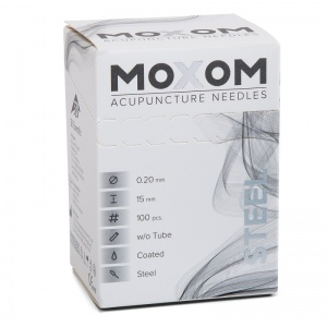 MOXOM Steel Silicone Coated Acupuncture Needles (Pack of 100)