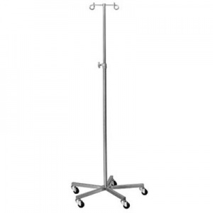 Bristol Maid Four-Hook Stainless Steel Infusion Stand with Weighted Base