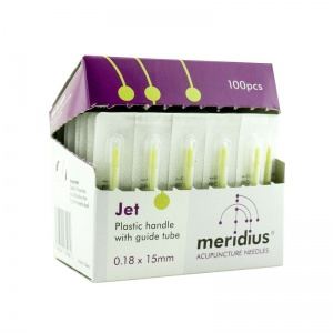 Meridius Jet Acupuncture Needles with Guide Tube (Pack of 100) - Money Off!