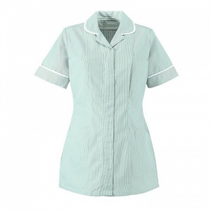 Alexandra Workwear Traditional Women's Classic Collar Stripe Tunic