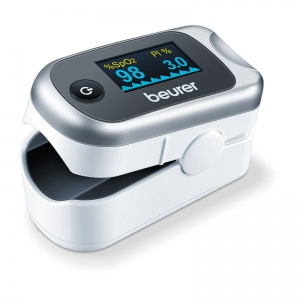 Beurer PO40 Pulse Oximeter for Determining SpO2, Pulse Frequency and PMI