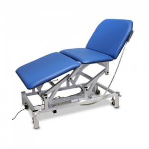 Bristol Maid Electric Three-Section Bariatric Treatment and Examination Couch with Foot Switch