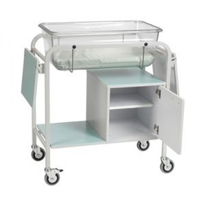 Bristol Maid Fixed Height Baby Crib with Small Cupboard