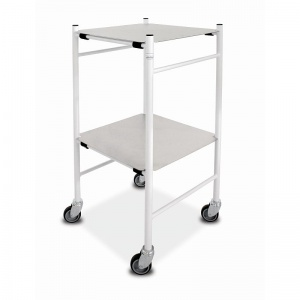 Bristol Maid Mild Steel Dressing Trolley with 450 x 450mm Removable Shelves