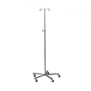 Bristol Maid Two-Hook Stainless Steel Infusion Stand