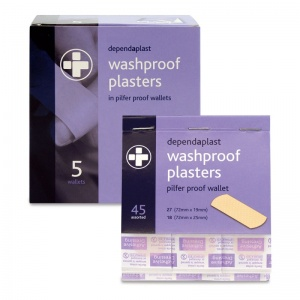 Dependaplast Washproof Plasters in Pilfer Proof Wallet (Pack of 5)