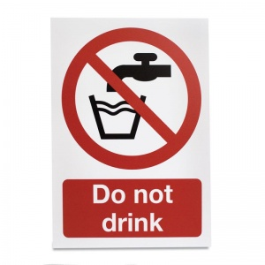 'Do Not Drink' Hazard Sign