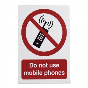'Do Not Use Mobile Phones' Warning Sign