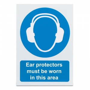 'Ear Protectors Must Be Worn' Safety Sign