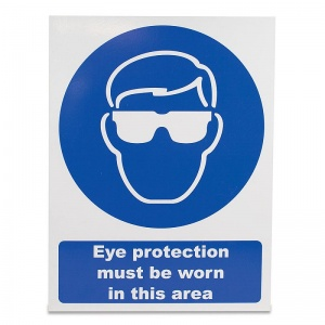 'Eye Protection Must Be Worn' Safety Sign