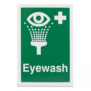 'Eye Wash' Safety Sign