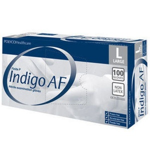 Polyco Finite P Indigo AF Nitrile Disposable Gloves MFNP100