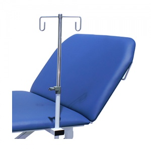 Height-Adjustable Two-Hook Infusion Pole for Bristol Maid Treatment and Examination Couches
