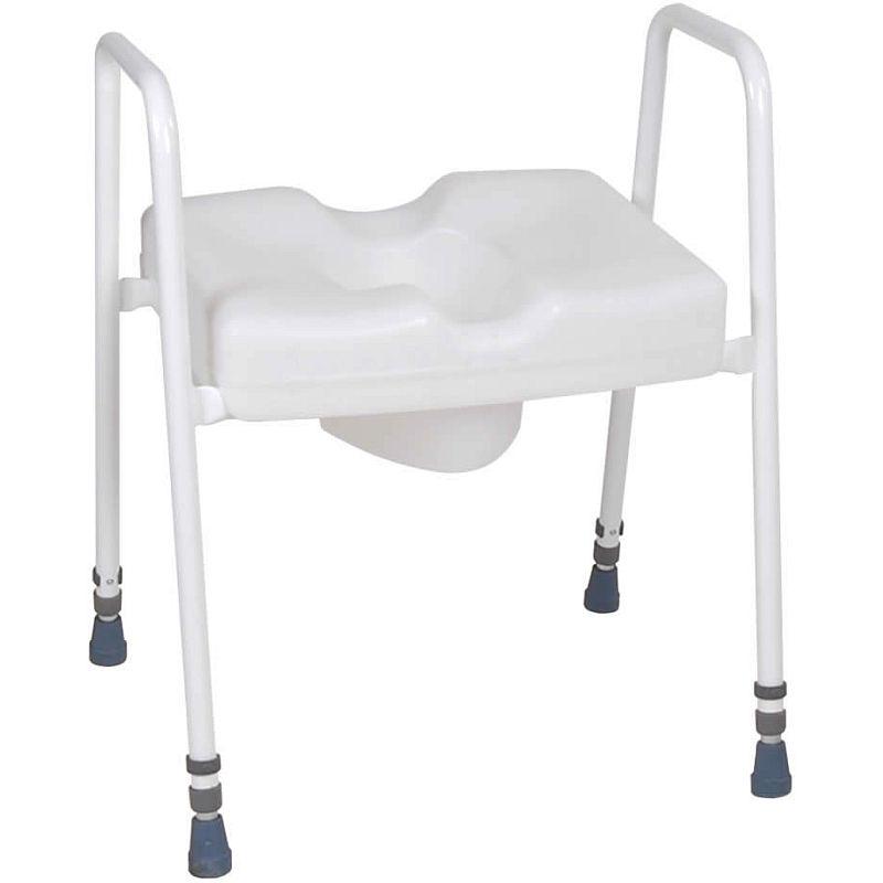 Superb Harvest Adjustable Toilet Frame With Raised Toilet Seat Dailytribune Chair Design For Home Dailytribuneorg