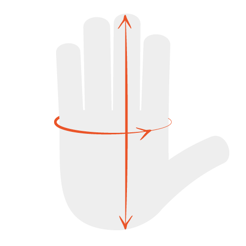 Measure Your Hand Circumference
