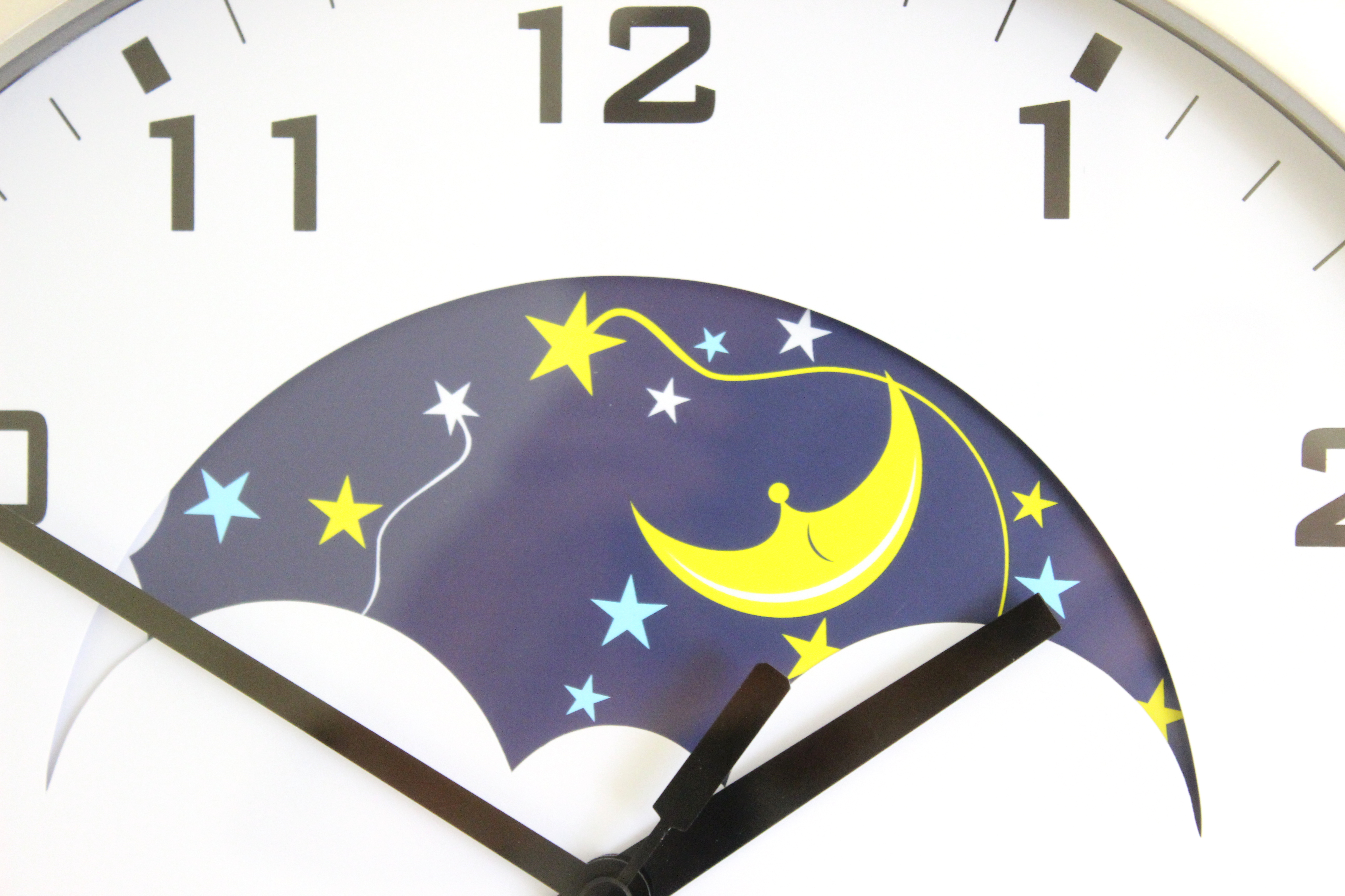 Day and Night Clock with Colourful Visual Display