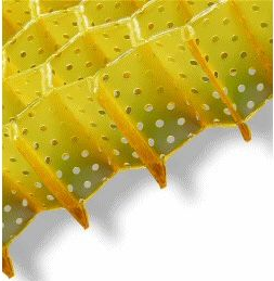 Honeycomb material of Stimulite cushions