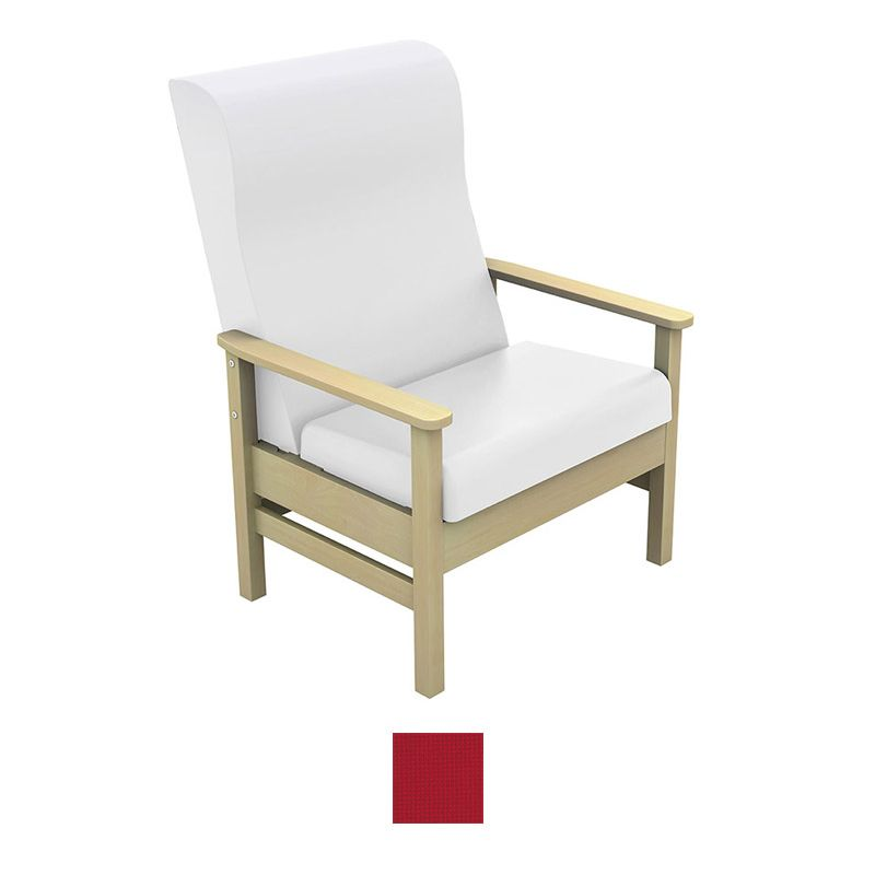 Bariatric Armchairs: Sunflower Medical Atlas Red High-Back Intervene Bariatric
