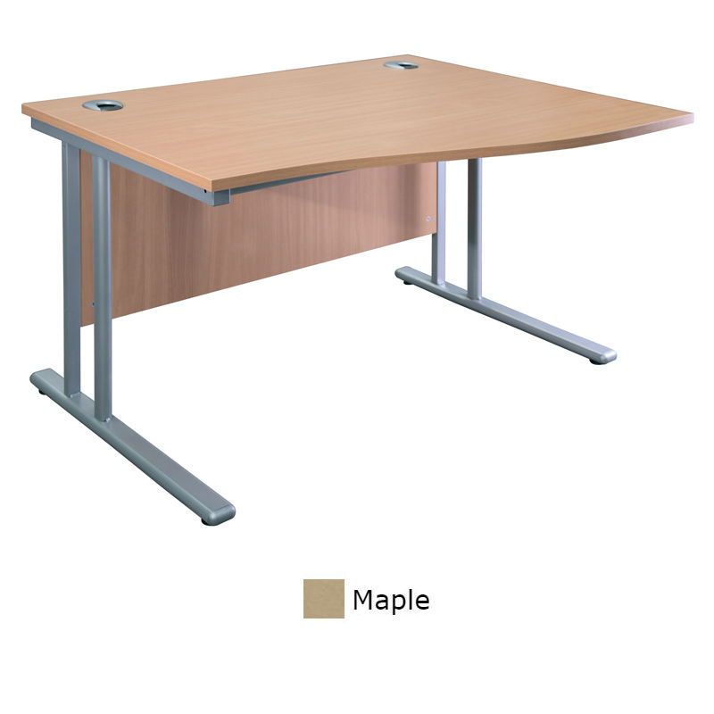 Sunflower Medical Maple 140cm Wide Right Hand Wave Desk