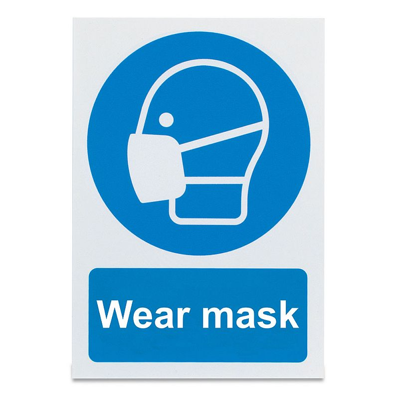 'Wear Mask' Safety Sign
