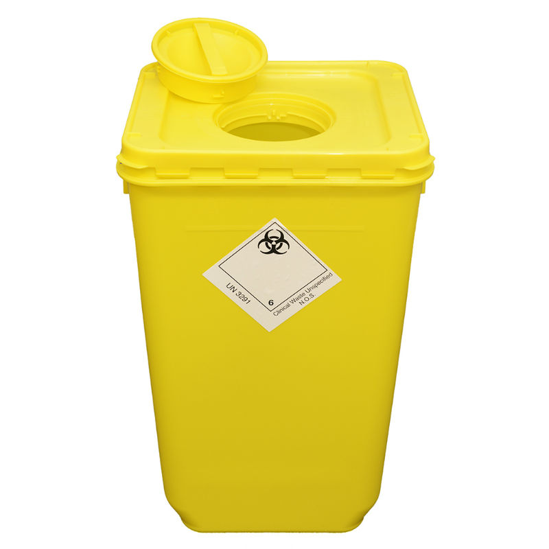 Wiva Yellow 60 Litre Clinical Waste Container
