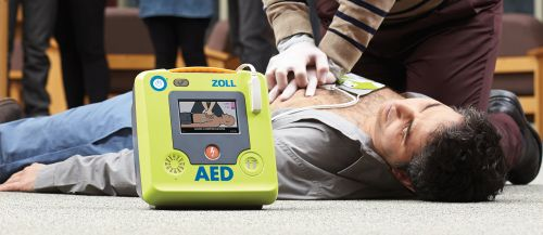 The Zoll AED 3 Semi-Automatic Defibrillator Provides CPR Assistance