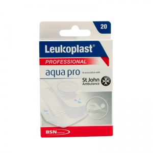 Leukoplast AquaPro Professional Water-Resistant Plasters (Pack of 20 Plasters)