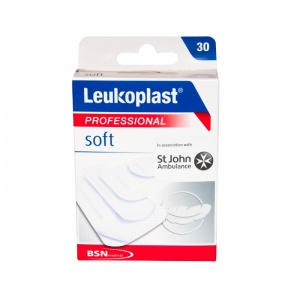 Leukoplast Soft Professional Plasters Assorted Sizes (Pack of 30)