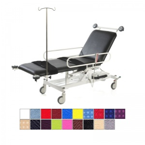 Medi-Plinth Hydraulic 2-Section Patient Trolley