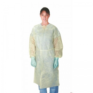 Medline Classic Cover Lightweight Polypropylene Isolation Gown (Pack of 50)