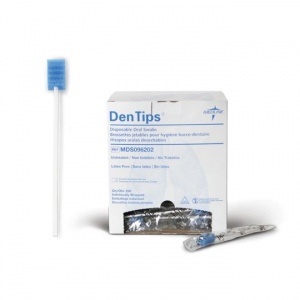 Medline DenTips Untreated Oral Swab (Pack of 1000)