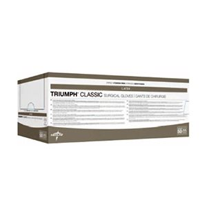 Medline Triumph Classic Latex Sterile Powder Free Surgical Gloves