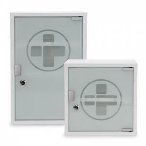 Metal First Aid Wall Cabinet with Glass Door