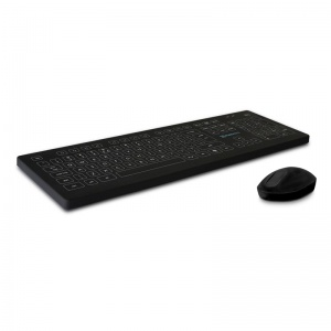 Purekeys Black Infection Control Wireless Medical Keyboard and Mouse Combination Pack