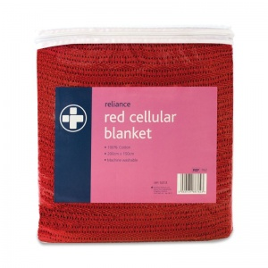 Red Cellular Blanket