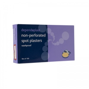Dependaplast Washproof Non-Perforated Spot Plasters (Pack of 100)