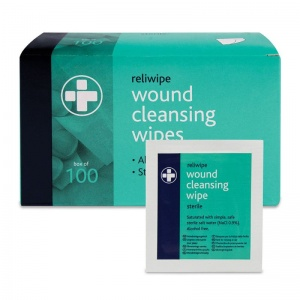 Reliwipe Sterile Wound Cleansing Wipes (Pack of 100)