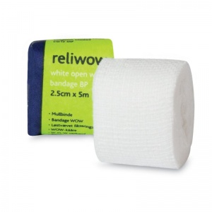 Reliwow White Open Wove Bandage BP (Pack of 12)