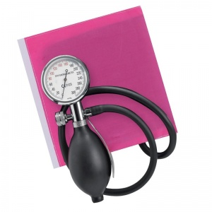 Sapphire Aneroid Sphygmomanometer with Pink Cuff