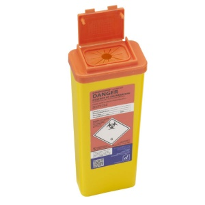 Sharpsguard Orange 0.5L Sharps Container for Scotland (Case of 60)