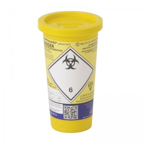 Sharpsguard Yellow 0.6L Mini Sharps Container (Case of 24)