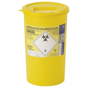 Sharpsguard Yellow 5L General-Purpose Sharps Container (Case of 48)