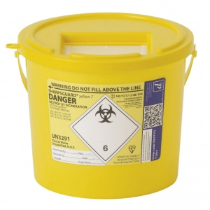 Sharpsguard Yellow 7L General-Purpose Sharps Container (Case of 40)