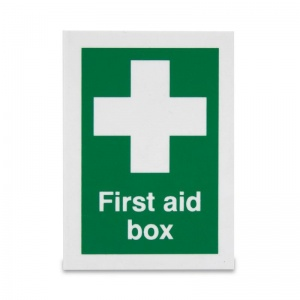 Small 'First Aid Box' Safety Sign