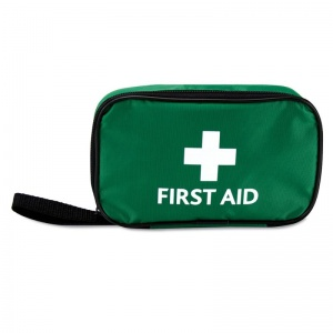 Green Soft Zipped First Aid Pouch (Empty)