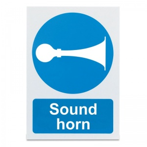 'Sound Horn' Warning Sign