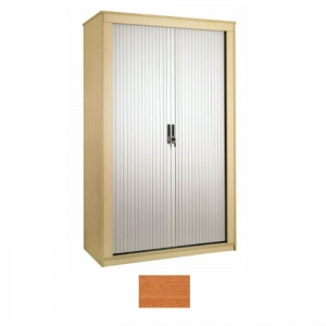 Sunflower Medical Cherry 160cm Tall Tambour Unit